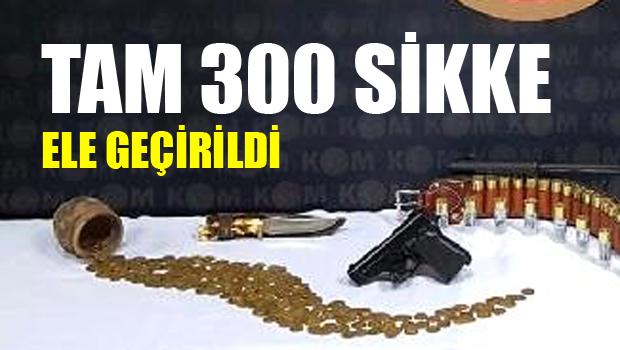 300 tarihi sikke ele geçirildi