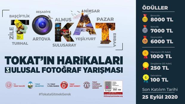 3. Tokat'ın Harikaları Fotoğraf Yarışması başladı.