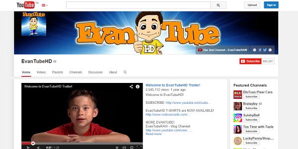 8 Yaşındaki Çocuk YouTube'tan 1 Milyon Dolar Kazanıyor