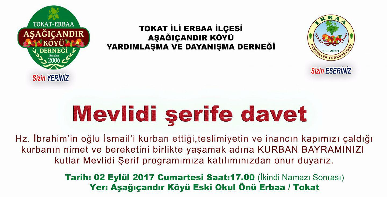 AŞAĞIÇANDIR KÖYÜ MEVLİD PROGRAMINDA DAVETLİSİNİZ-10521