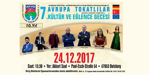 AVRUPA TOKATLILAR KÜLTÜR VE EĞLENCE GECESİNE DAVETLİSİNİZ-10915