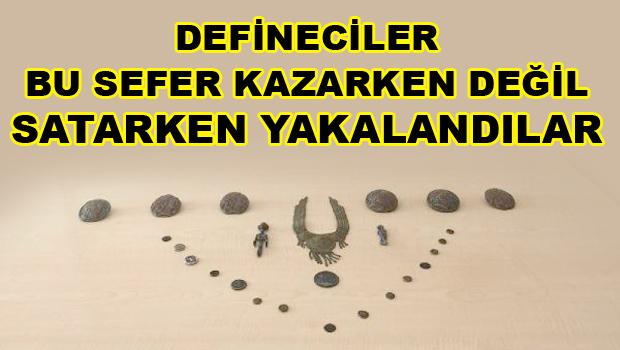 DEFİNECİLER TARİHİ ESERİ BULDU JANDARMADA ONLARI