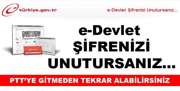 E-DEVLET ŞİFRENİZİ UNUTTUYSANIZ