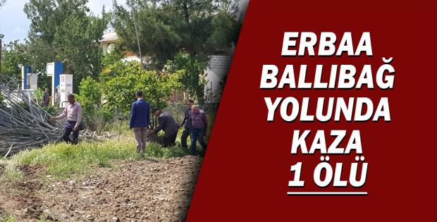ERBAA BALLIBAĞ YOLUNDA KAZA 1 ÖLÜ-11263