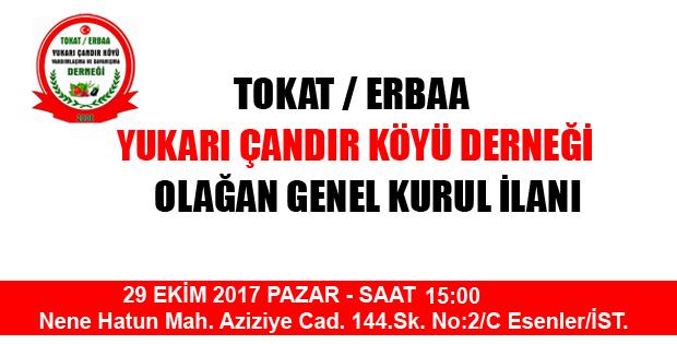 ERBAA YUKARI ÇANDIR KÖYÜ DERNEĞİ OLAĞAN GENEL KURUL İLANI-10686