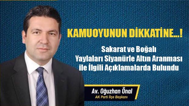 Erbaa Ak Parti İlçe Başkanından KAMUOYUNUN DİKKATİNE