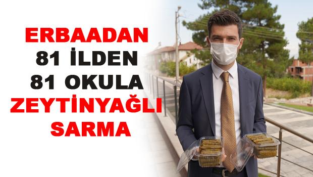 Erbaa Belediyesi 81 ilden 81 okula zeytinyağlı sarma