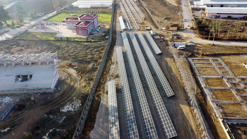 Erbaa Belediyesi Güneş Enerji Santrali'nde çalışmalarda sona yaklaşıldı.