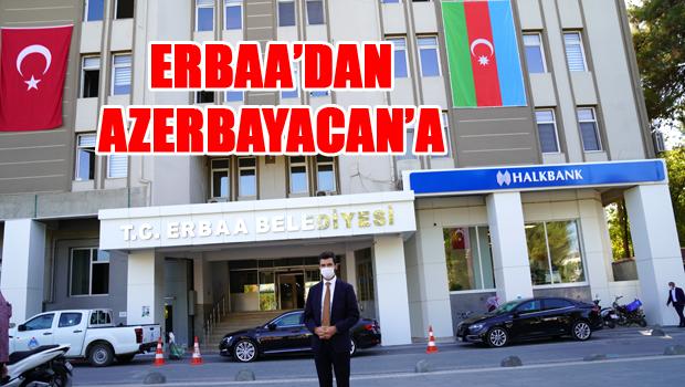 Erbaa Belediyesinden Azerbaycan'a destek
