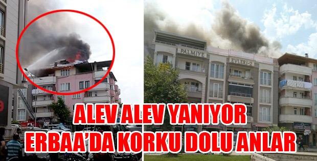 Erbaa'da Korkutan Yangın-10316