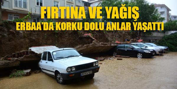 Erbaa'da Kuvvetli Yağış ve Fırtına HAYATI FELÇ ETTİ