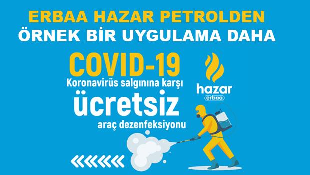 Erbaa'da Ücretsiz Araç Dezenfeksiyonu