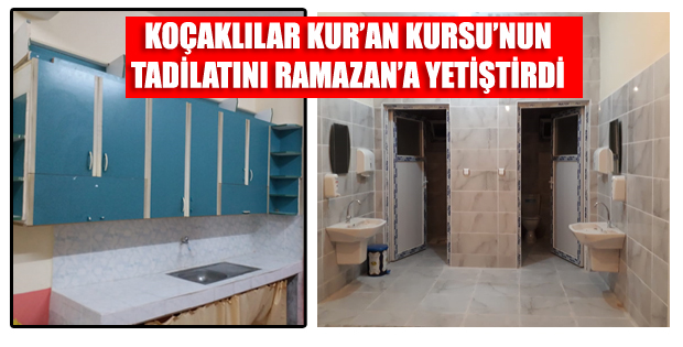 KOÇAK EMİRŞAH KUR'AN KURSU TADİLATI SONA ERDİ