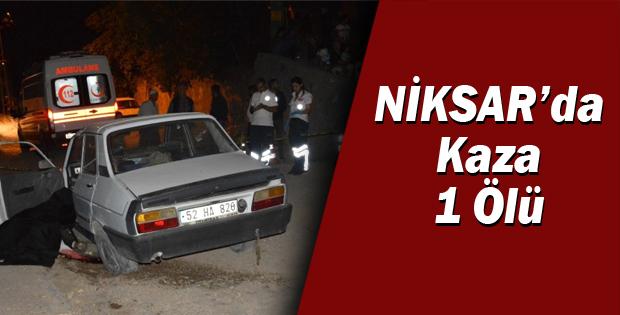 Niksar'da KAZA