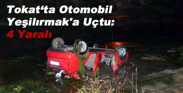 Otomobil Takla Atıp Yeşilırmak'a Uçtu: 4 Yaralı