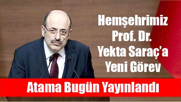 Prof. Dr. Yekta Saraç, Cumhurbaşkanı Başdanışmanlığı'na getirildi