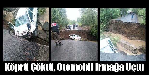 Sulusaray'da İki Köy Arasındaki Köprü Çöktü ve...