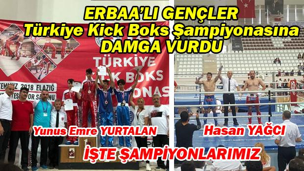 TASKK Türkiye Kick Boks Şampiyonasında Erbaa'lı Gençler Şampiyon Oldu