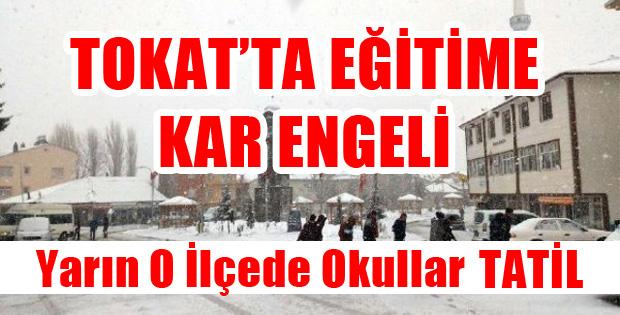 TOKAT'TA  KAR TATİLİ
