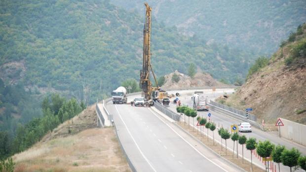 Tokat Çevre Yolunda Heyelan Riskine Karşı Çalışma Başlatıldı