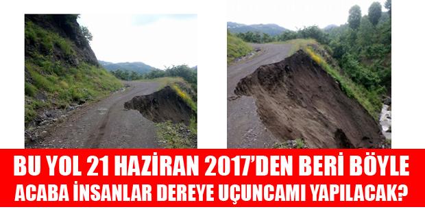 Tokat Erbaa'da Tehlikeli Bir Yol Hikayesi-10445
