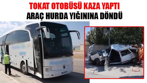 Tokat Otobüsü Kaza Yaptı