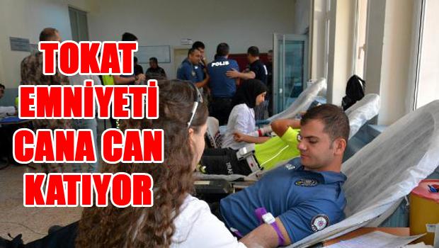 Tokat Polisinden Kızılay'a  Kan Bağışı