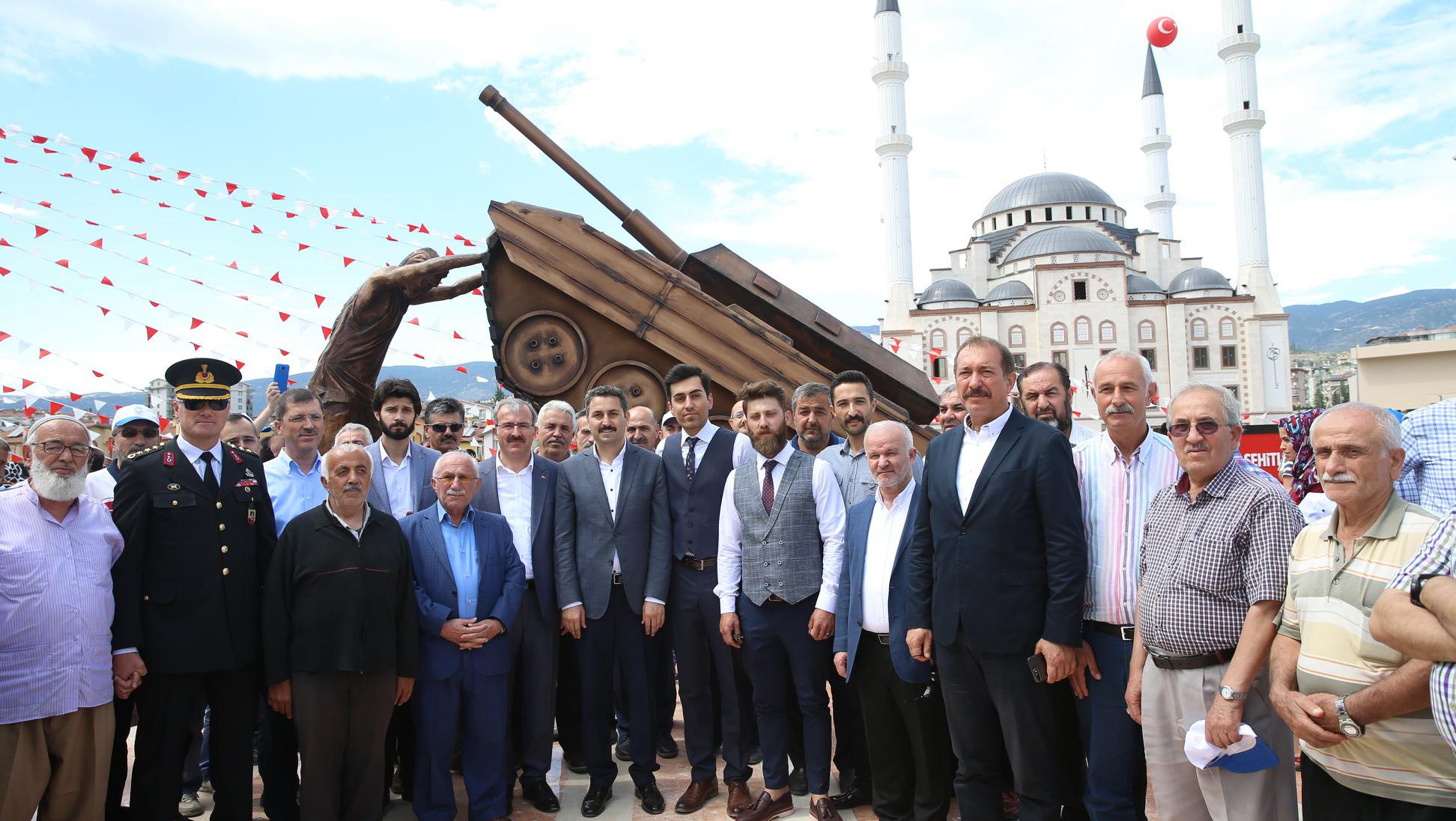 Tokat'ta 15 Temmuz İçin Anlamlı Anıt