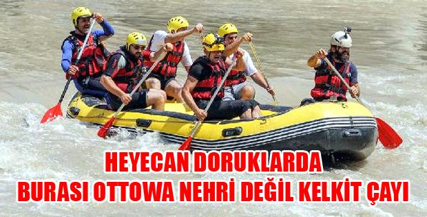 Tokat'ta Kelkit Çayı'nda Rafting Heyecanı