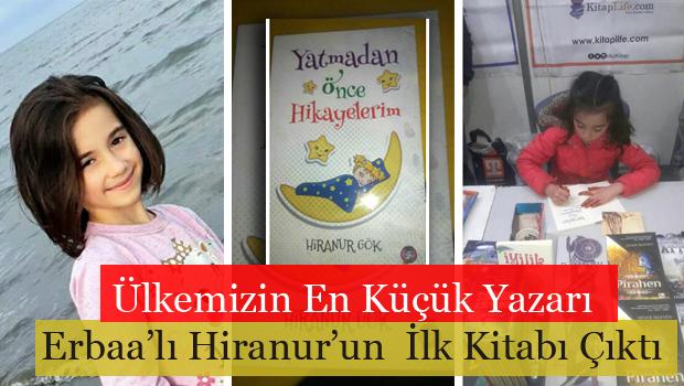 Ülkemizin En Küçük Yazarı Erbaa'lı Hiranur Gök'ün Kitabı Çıktı