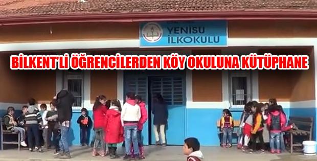 Üniversite Öğrencilerinden Köy Okuluna Kütüphane
