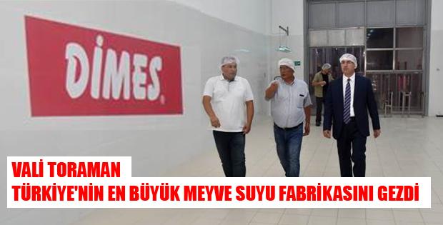 VALİ TORAMAN,TÜRKİYE'NİN EN BÜYÜK MEYVE SUYU FABRİKASINI GEZDİ-10449