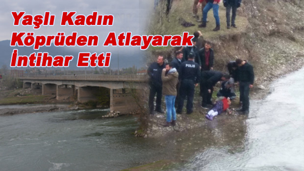Yaşlı kadın köprüden atlayarak intihar etti