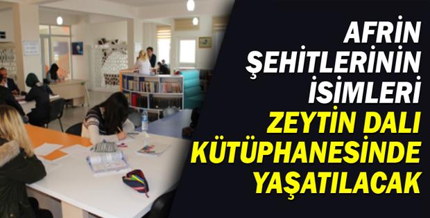 Zeytin Dalı Kütüphanesi Erbaa'da