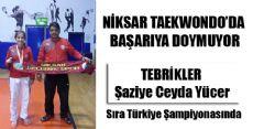 Niksar'lı Şaziye Ceyda Yücer Türkiye Şampiyonasında