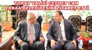 Yeni Tokat Valisi Cevdet Can'ın Erbaa Belediyesini Ziyaret Etti