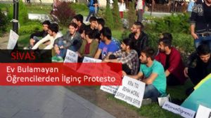 Sivasta Ev Bulamayan Öğrencilerden İlginç Protesto