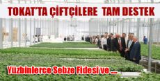 150 Bin Sebze Fidesi Törenle Dağıtıldı