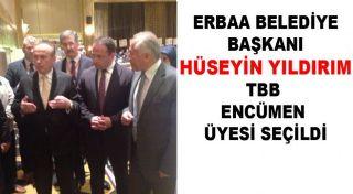 Erbaa Belediye Başkanı Hüseyin Yıldırım TBB Encümen Üyesi Seçildi.