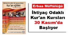 30 KASIM'DA BAŞLIYOR