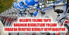 ERBAA'YA 5OO ADET BİSİKLET