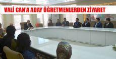 ADAY ÖĞRETMENLERDEN VALİ'YE ZİYARET