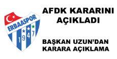AFDK'nın Erbaaspor Kararı