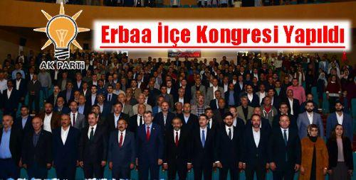 AK Parti Erbaa İlçe Kongresi Yapıldı
