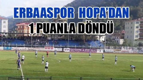 ARTVİN HOPASPOR 0-0 ERBAASPOR