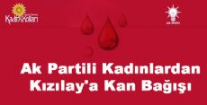Ak Partili Kadınlardan Kızılay'a Kan Bağışı
