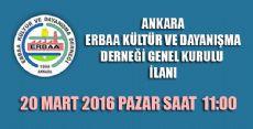 Ankara, Erbaa Kültür ve Dayanışma Derneği
