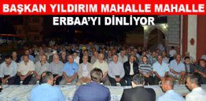 BAŞKAN YILDIRIM MAHALLE MAHALLE ERBAA'YI DİNLİYOR