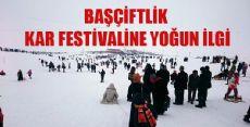 Başçiftlik Kar Festivaline Yoğun İlgi