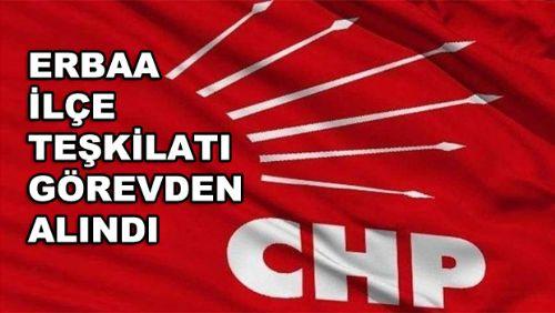 CHP MYK ERBAA yönetimini görevden aldı